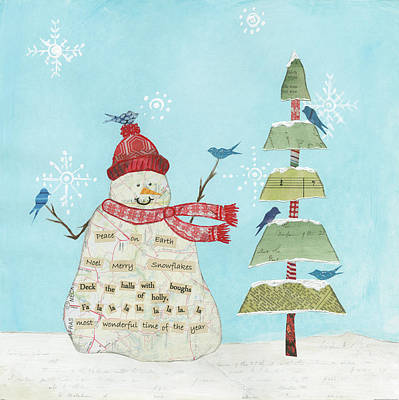 Peace On Earth Painting - Winter Fun I by Courtney Prahl