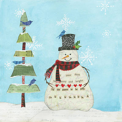 The Christmas Tree Painting - Winter Fun Iv by Courtney Prahl