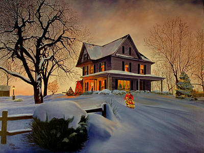 Art Print featuring the painting Winter Fun by Rick Fitzsimons