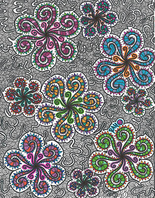 Swirly Drawing - Winter Funderland by Ryan Ashley Hornbuckle