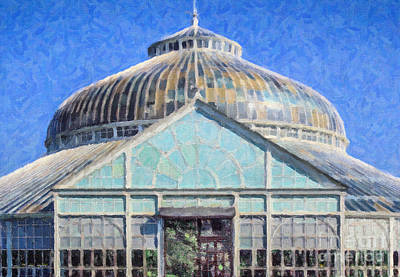Digital Art - Winter Gardens Glasgow by Liz Leyden