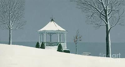 Winter Gazebo Art Print by Michael Swanson