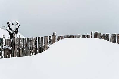Winter Geometry 3. Russia Art Print by Jenny Rainbow