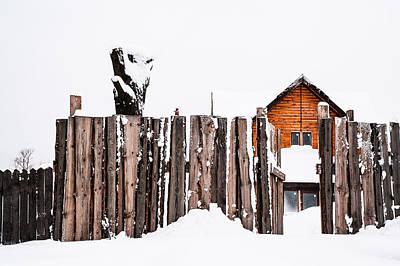 Winter Geometry 5. Russia Art Print by Jenny Rainbow