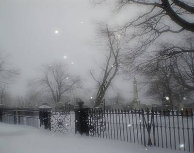 Winter Graveyard Art Print by Gothicrow Images