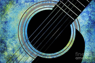Photograph - Winter Guitar by Andee Design