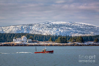 Photograph - Winter Harbor Light In Acadia by Susan Cole Kelly