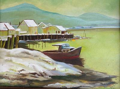 Painting - Winter Harbor by Pat Steiner