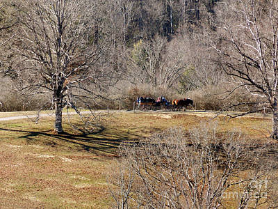 Hayride Photograph - Winter Hayride by Skip Willits