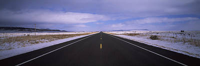 Asphalt Photograph - Winter Highway Passing by Panoramic Images