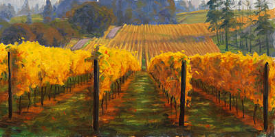 Painting - Winter Hill Vineyard by Michael Orwick