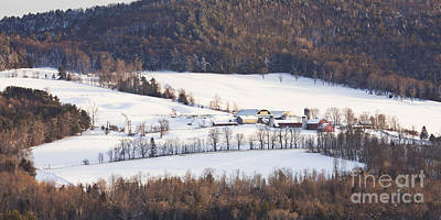 Photograph - Winter Hillside Farm by Alan L Graham