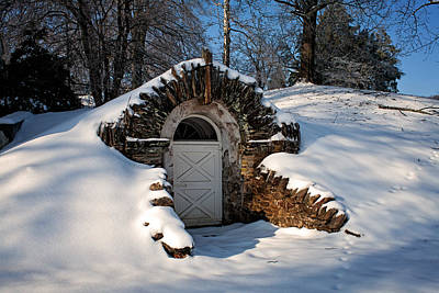 Photograph - Winter Hobbit Hole by Michael Porchik