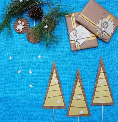Basketball Patents - Winter holidays background by Ecaterina Tolicova