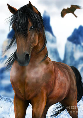 Kids Alphabet Royalty Free Images - Winter Horse Royalty-Free Image by Elle Arden Walby