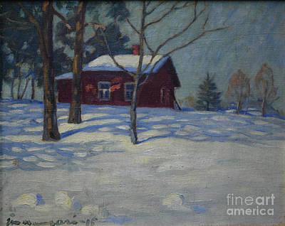 Painting - Winter House by Janne Muusari