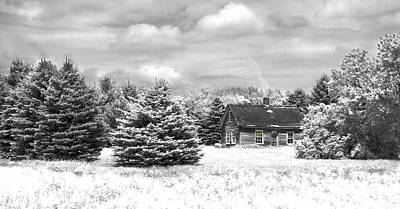 Winter House On The Prairie Art Print