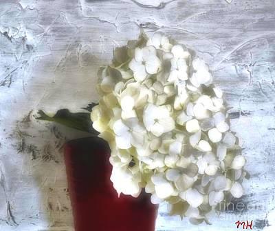 Wrap Digital Art - Winter Hydrangea by Marsha Heiken