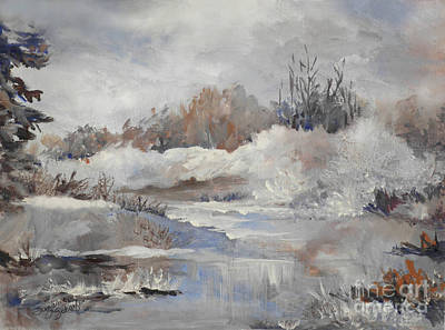 Snow Scene Painting - Winter Impressions by Suzanne Schaefer