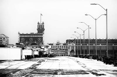 Photograph - Winter In Asbury Bw by John Rizzuto