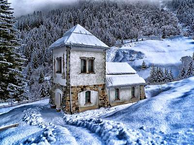 Cabin Window Photograph - Winter In Austria by Movie Poster Prints