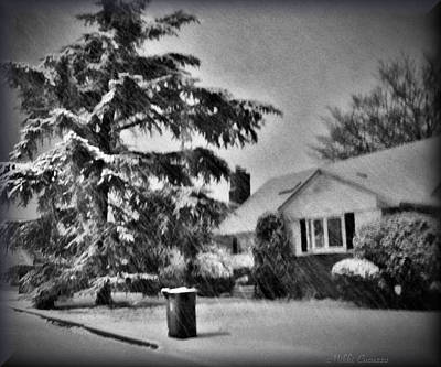 Winter In Black And White Art Print by Mikki Cucuzzo