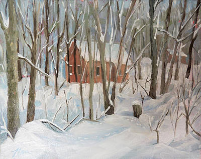 Painting - Winter In Campton New Hampshire by Nancy Griswold