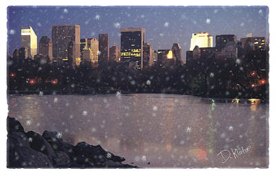 Art Print featuring the digital art Winter In Central Park by David Klaboe