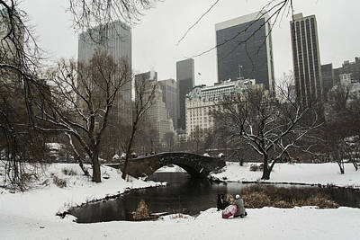 Photograph - Winter In Central Park by Theodore Jones