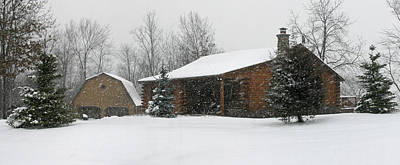 Winter In Galena Art Print by Gary Lobdell