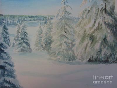 Winter In Gyllbergen Art Print by Martin Howard