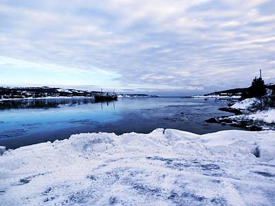 Snow Photograph - Winter In Harbor Grace by Zinvolle Art