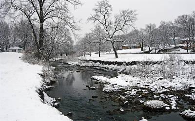 Winter In Hill Park 7 Art Print by Ellen Tully
