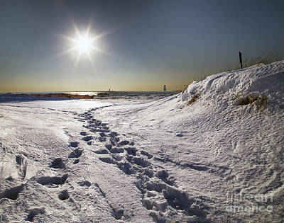 Winter In Ludington Art Print by Twenty Two North Photography
