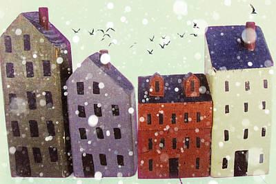 Winter In Nantucket Art Print by Amy Tyler