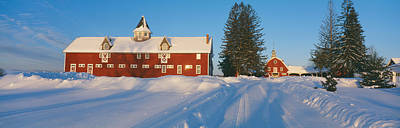 Winter In New England, Mountain View Print by Panoramic Images