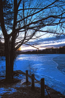 Winter In New Hampshire Print by Joann Vitali