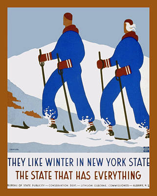 Winter In New York State Print by Unknown