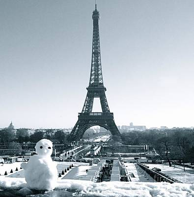 Sculpture - Winter In Paris by Louise Fahy