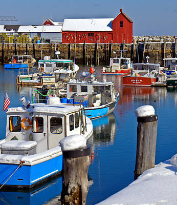 Photograph - Winter In Rockport 2 by Caroline Stella