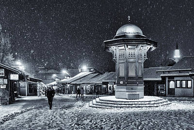 Town Square Wall Art - Photograph - Winter In Sarajevo by Bez Dan