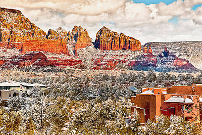 Photograph - Winter In Sedona Arizona 2 by Bob and Nadine Johnston