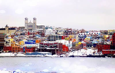 Winter In St. John's Art Print
