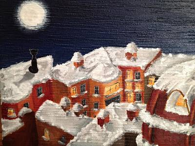Painting - Winter In St Petersburg by Margarita Gokun