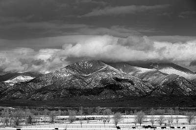 Winter In Taos New Mexico Art Print by Mark Goebel