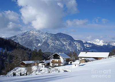 Photograph - winter in the Bavarian alps 1 by Rudi Prott