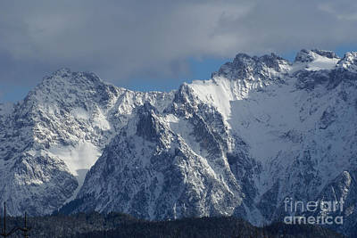 Photograph - winter in the Bavarian alps 3 by Rudi Prott