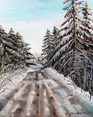 Shana Jackson Painting - Winter In The Boons by Shana Rowe Jackson