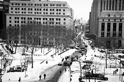 Winter In The City Photograph - Winter In The City 1990s by John Rizzuto