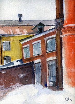 Painting - Winter In The City by Lelia Sorokina